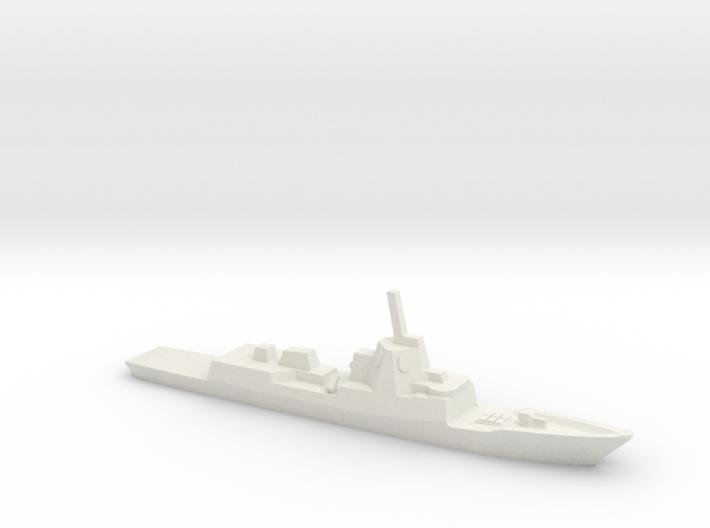 ESPS F-100 class Frigate, w/ barrels, 1/3000 3d printed