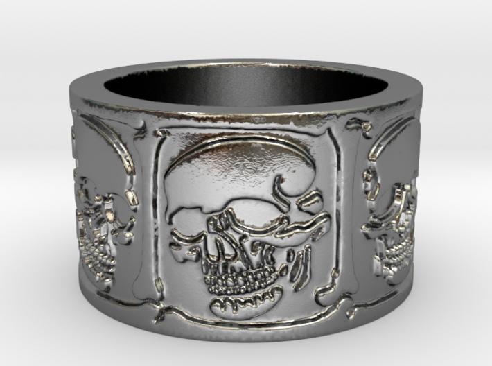 Skulls and Bones Ring Size 8 3d printed