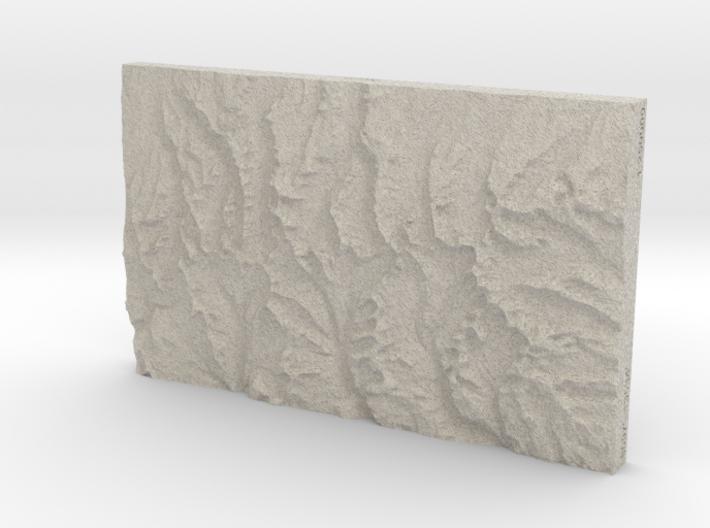 Uinta Range, Utah, 1:250000, Sandstone 3d printed