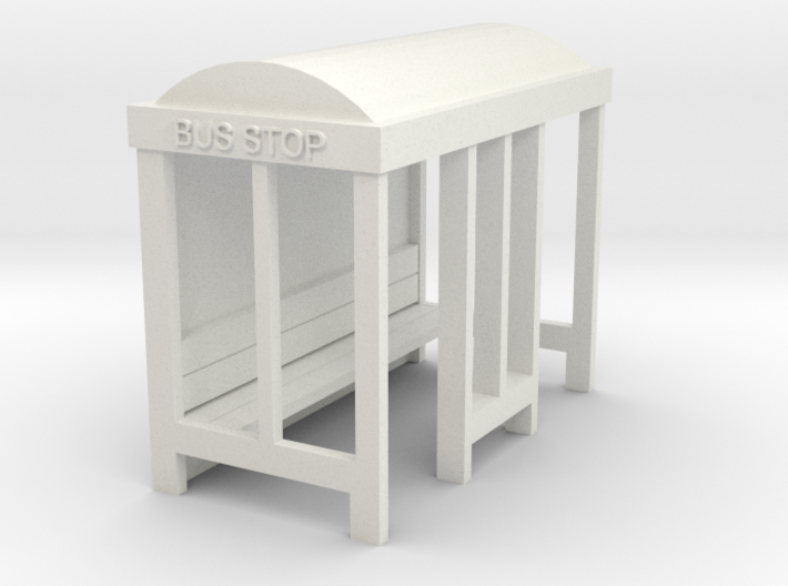 Bus Stop - HO 87:1 Scale 3d printed