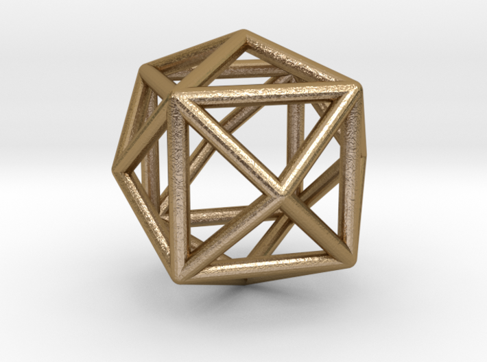 Gold Crystal Earring 3d printed
