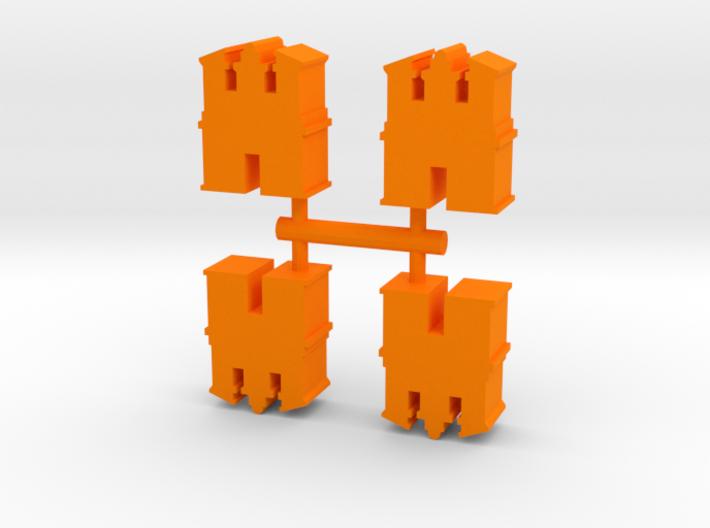 Game Piece, Desert Temple, 4-set 3d printed