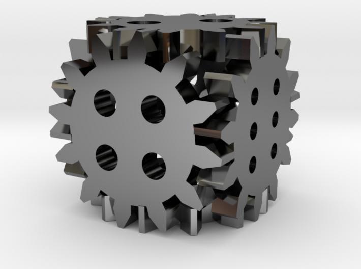 Steampunk gear die 3d printed