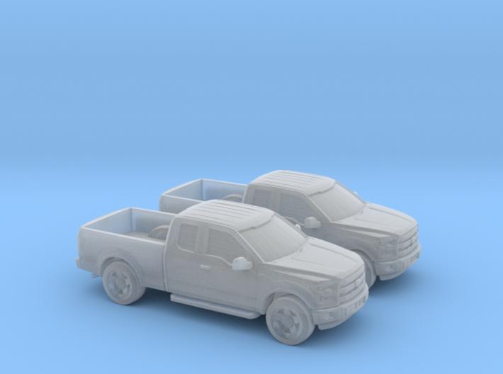 1/148 2X 2015 F150 Ext Cab 3d printed