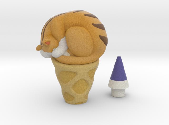 Cheese icecream 3d printed