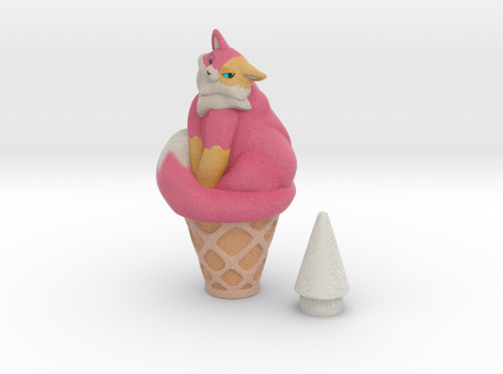 Sherbet icecream 3d printed