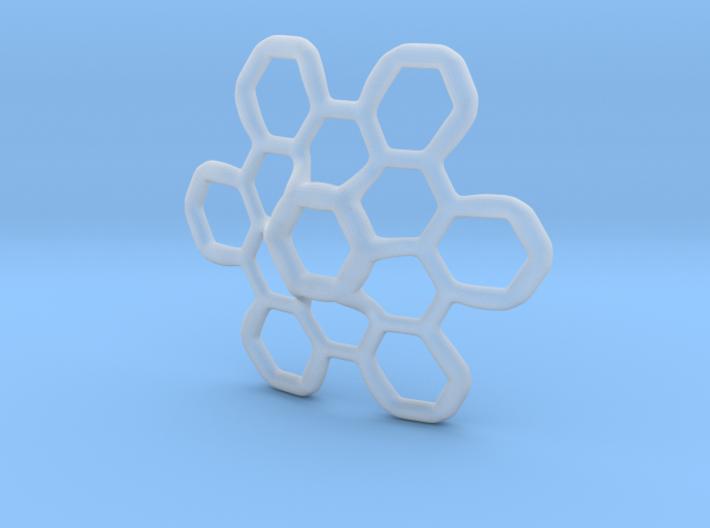 Hex Petal - 4cm 3d printed