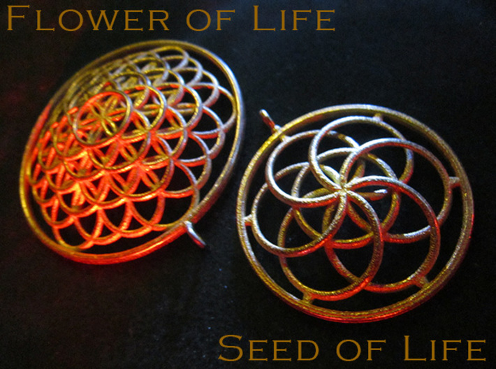 Seed of Life Pendant - 4.5cm 3d printed
