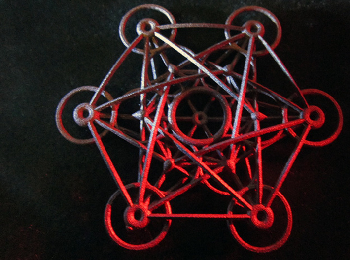 Metatron's Cube - 8cm - wStand 3d printed