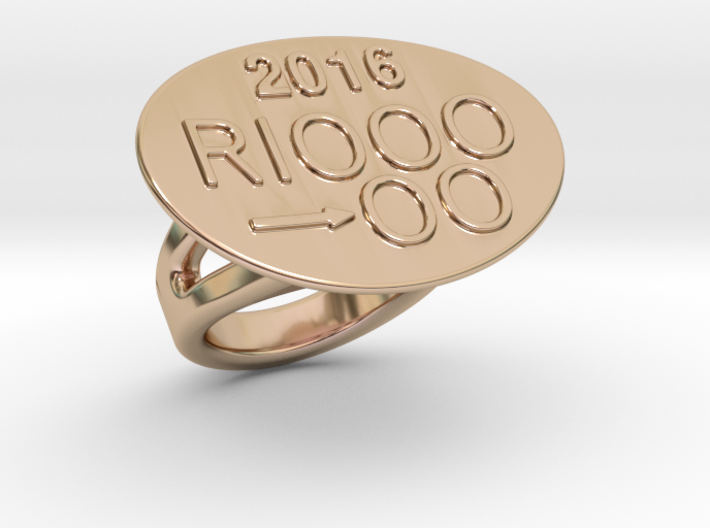 Rio 2016 Ring 25 - Italian Size 25 3d printed