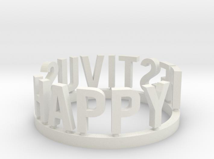 DRAW Festivus - Happy Festivus ring 3d printed