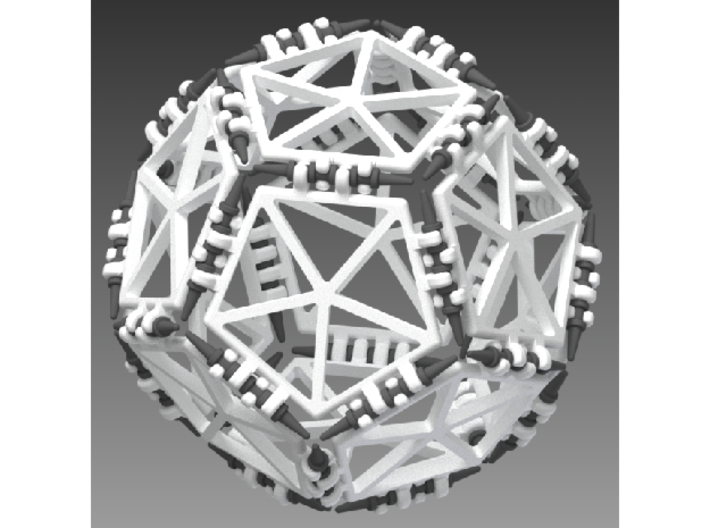 Platonic Solids Kit - part 1 of 2 3d printed dodecahedron made with this kit