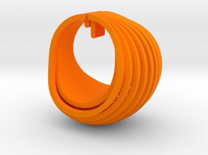 OvalEarring 3d printed