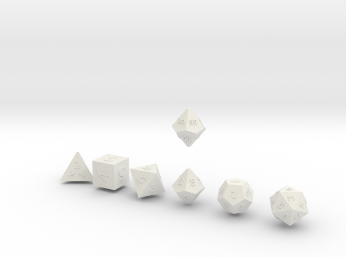 QUADRANT Sharp Outies dice 3d printed