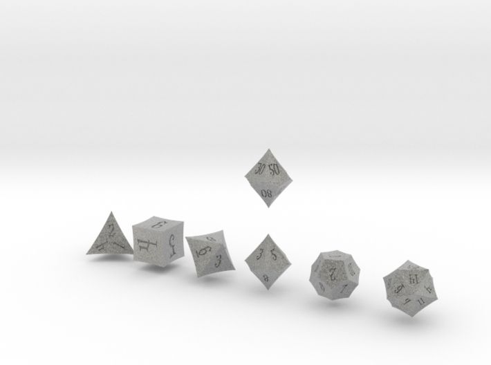 ELDRITCH POINTY Innies dice 3d printed