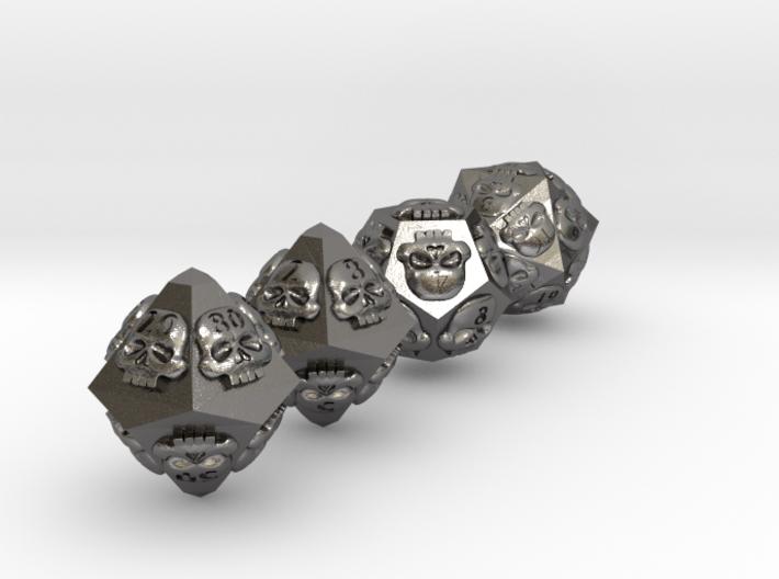 NECRON skull dice v2 d00 d10 d12 d20 3d printed