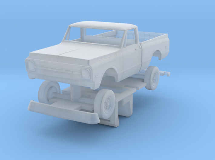 1969 -1971 HO Scale Chevy shortbed pick-up with in 3d printed