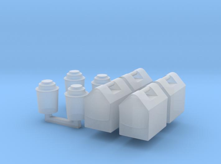 1/64 Water Jug and Cooler 3d printed