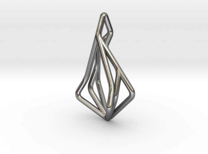 N-Line No.1 Pendant. Natural Chic 3d printed