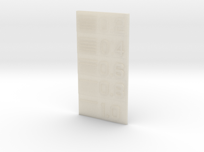 Line Thickness Test Block 3d printed