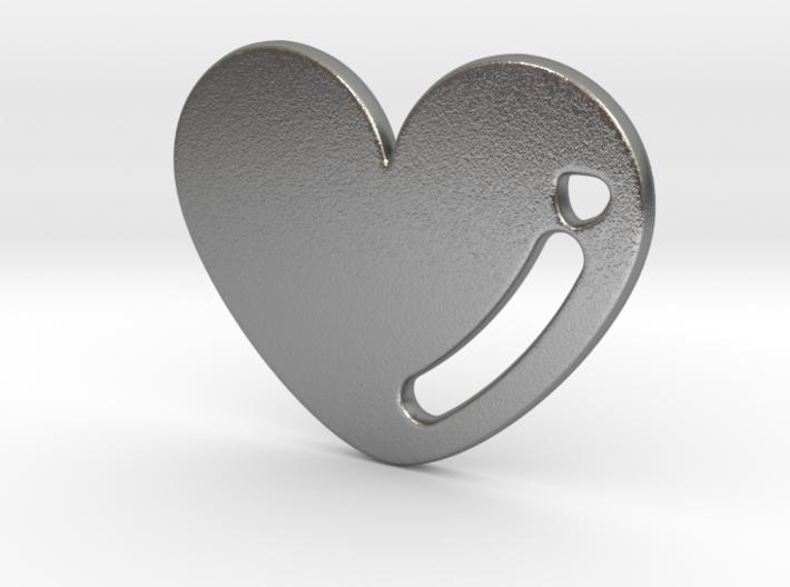 Love Heart Pendant 3d printed
