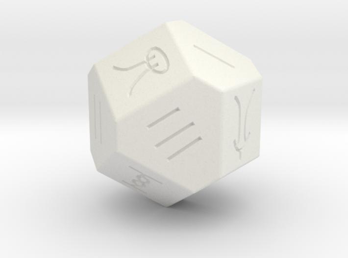Liubo 14 Sided Dice 3d printed