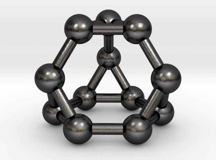 0372 Truncated Tetrahedron V&E (a=1cm) #003 3d printed