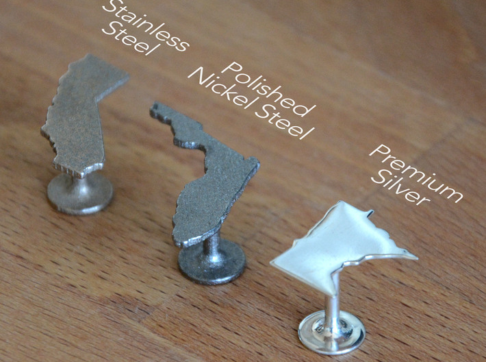 Wyoming State Cufflinks 3d printed