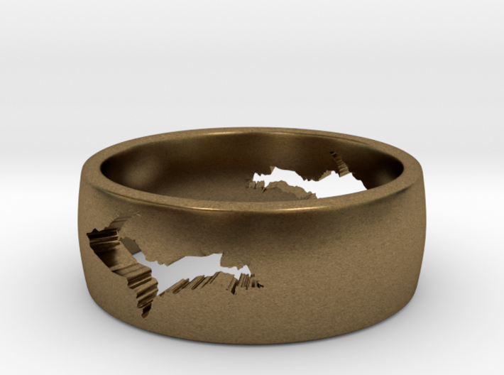 Upper Peninsula Comfort-Fit Ring 3d printed