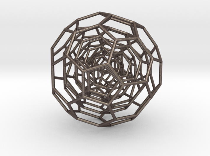 0381 4-Grid Truncated Icosahedron #All (11.2 cm) 3d printed