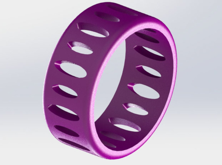 AB Ellipse Ring Size 6 3d printed