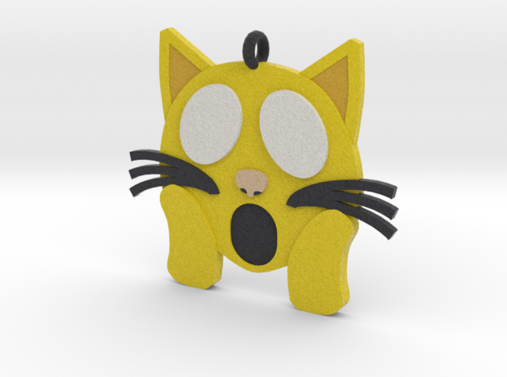 Shocked Kitty 3d printed