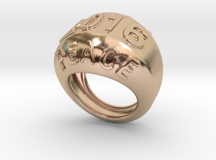 2016 Ring Of Peace 24 - Italian Size 24 3d printed