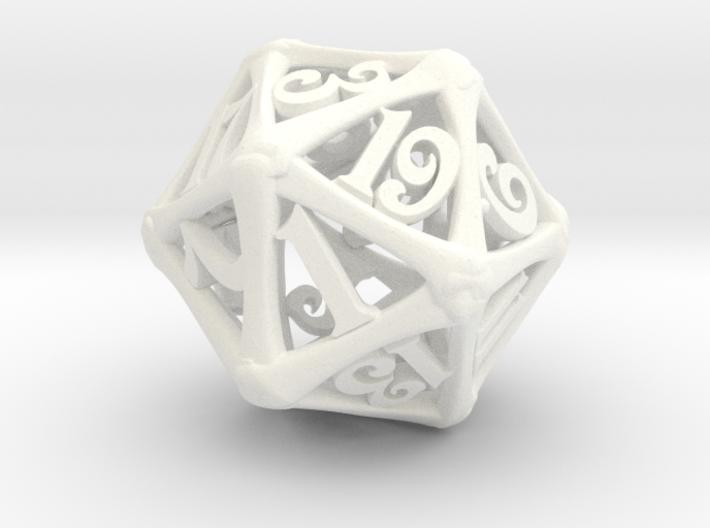 D20 Bone Die 3d printed