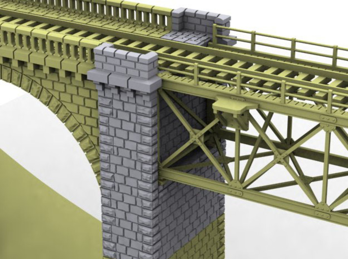NV4M03 Modular metallic viaduct 1 3d printed
