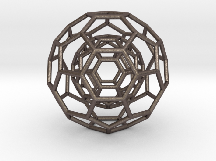 0378 2-Grid Truncated Icosahedron #1#2 (6.3cm) 3d printed