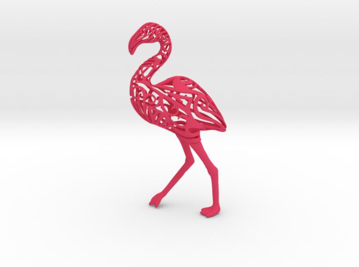 Tribal Flamingo 3d printed