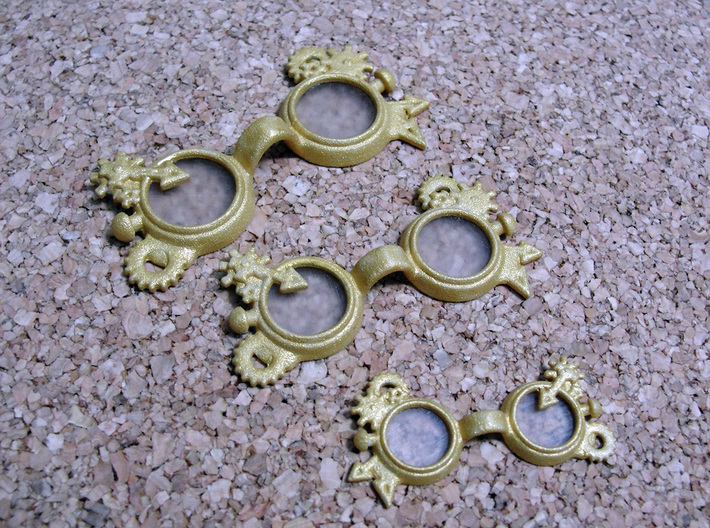 Steam punk Goggles:  MSD 1/4 doll size 3d printed