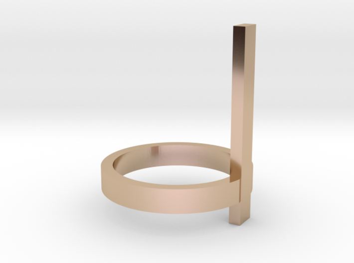 Vertical Bar Ring, Size 7 3d printed