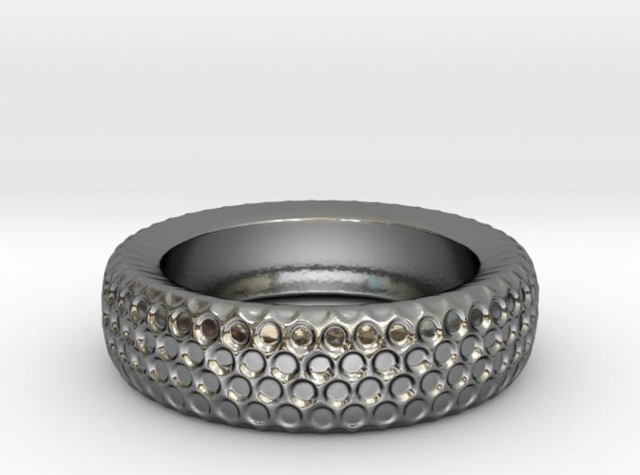 Circle Pattern Band - Size 12 3/4 3d printed