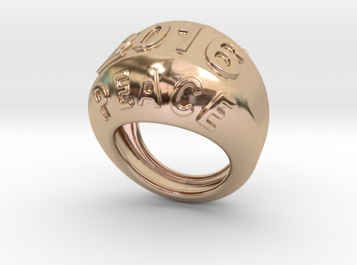2016 Ring Of Peace 33 - Italian Size 33 3d printed
