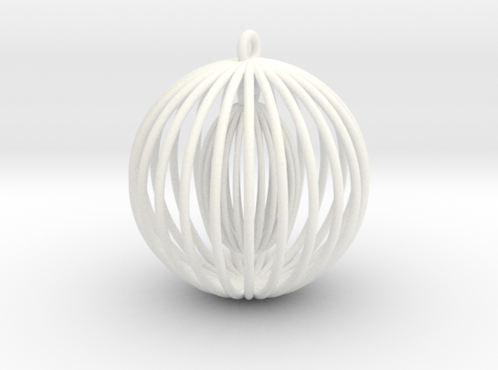 Double cage Large - Christmas Tree Ornament 3d printed