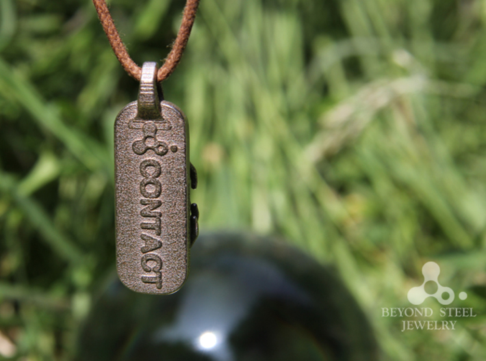 Contact Ball Pendant 3d printed Stainless Steel Finish