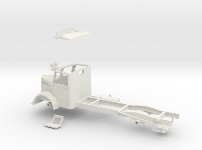 1:43 Bedford OL Cab & Chassis (Cab headboard) 3d printed