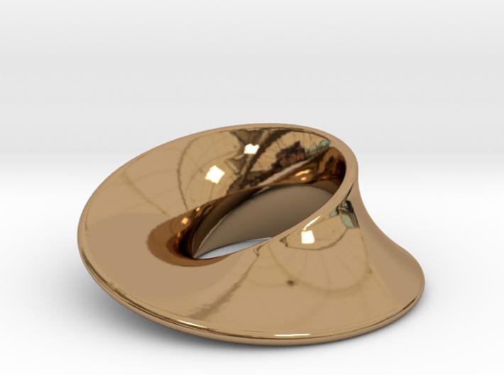 Minimal Mobius pendant (1 in) 3d printed
