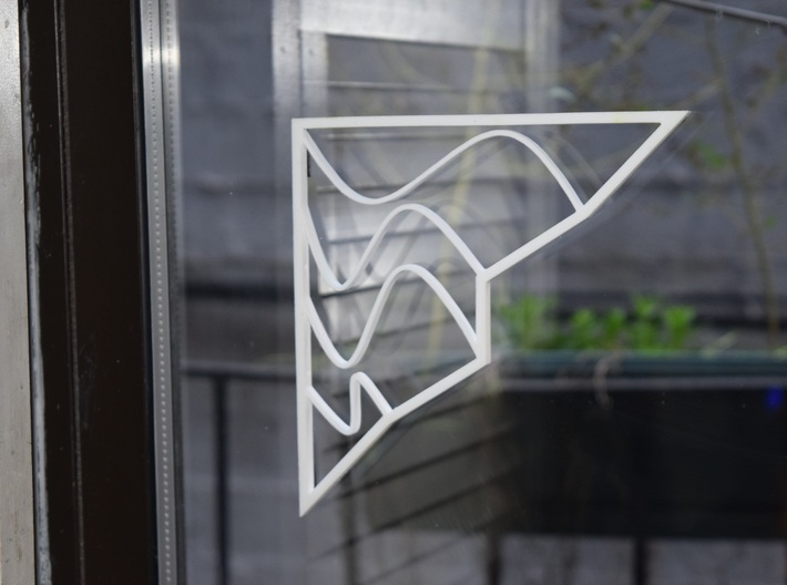 Architectural Screen - Town and Waves 3d printed