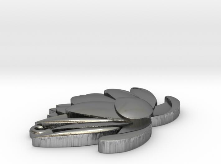 Lotus Pendant 3d printed