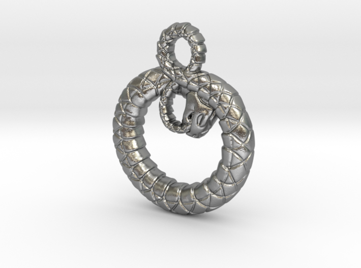 Ouroboros Pendant 3d printed