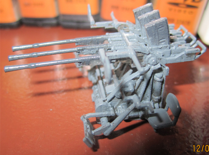 1/72 IJN Type 96 25mm Triple Mount 3d printed