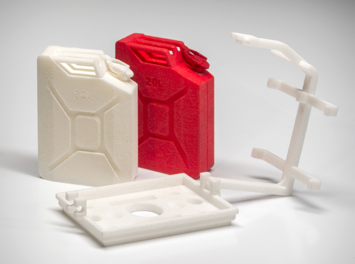Scale 20L Jerry Can double mount 3d printed